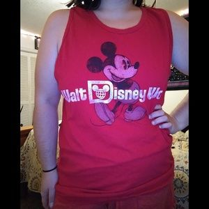 XL Red Walt DisneyWorld Tank Top